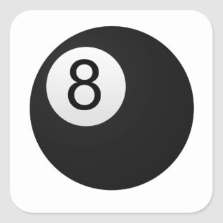 Eight Ball Square Stickers