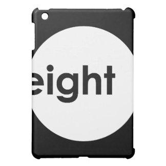 Eight Ball Text iPad Case (light)