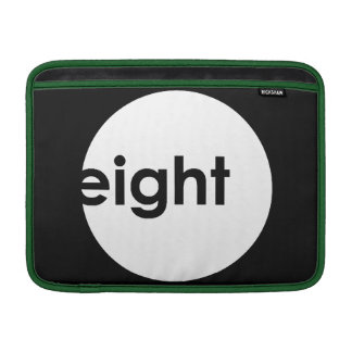 Eight Ball Text Macbook Sleeve (inverese colors)