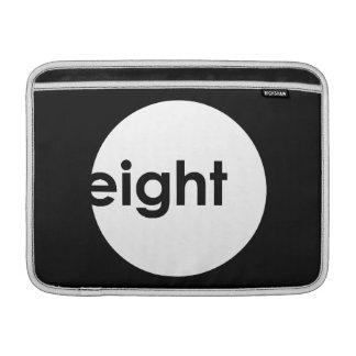 Eight Ball Text Macbook Sleeve (light)