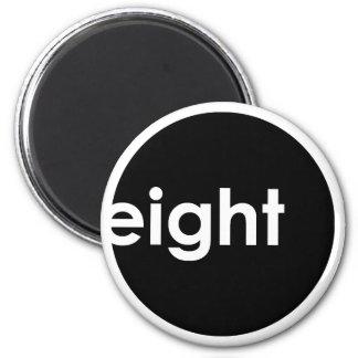 Eight Ball Text Magnet (dark)