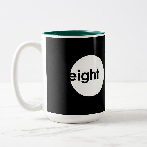 Eight Ball Text Mug (light)