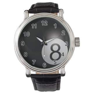 Eight Ball Watch - Can Choose Different Bands
