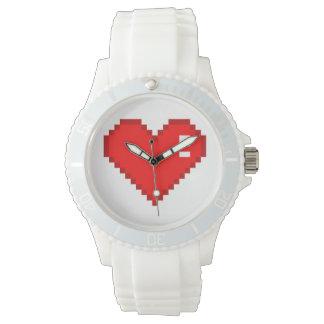 Eight Bit Heart Wristwatches