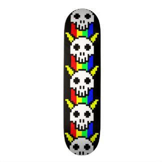 Eight Bit Horned Skull Skateboard