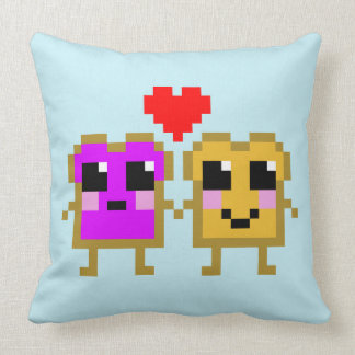 Eight Bit Peanut Butter and Jelly Pillow