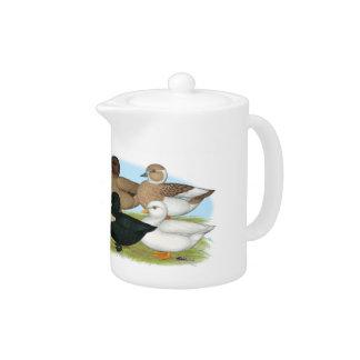 Eight Call Ducks Teapot