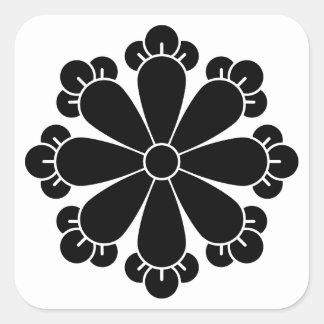 Eight cloves square sticker