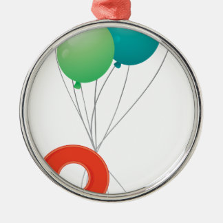 Eight colourful balloons metal ornament