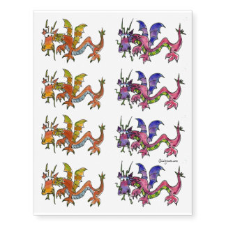 Eight Dragons Temporary Tattoos