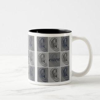 Eight Ears Graphic Two-Tone Coffee Mug