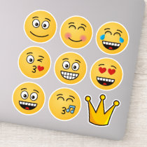 Eight Emojis and a Crown Sticker
