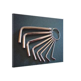 Eight hex/Allen keys arranged on table Gallery Wrap Canvas