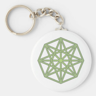 eight-hit a corner twisted octagon braided keychain