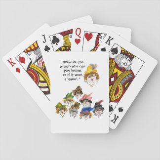 Eight Humorous Bridge Player Ladies Playing Cards