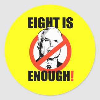 EIGHT IS ENOUGH! CLASSIC ROUND STICKER