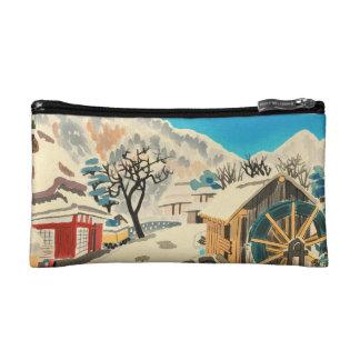 Eight Kyoto Snow Scenes, Kurama Road Eiichi Cosmetic Bags