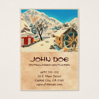 Eight Kyoto Snow Scenes, Kurama Road Eiichi Business Card