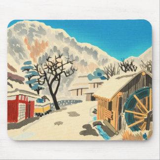 Eight Kyoto Snow Scenes, Kurama Road Eiichi Mouse Pad