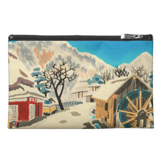 Eight Kyoto Snow Scenes, Kurama Road Eiichi Travel Accessory Bag