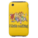 eight maids a-milking 8th eighth day christmas tough iPhone 3 cover