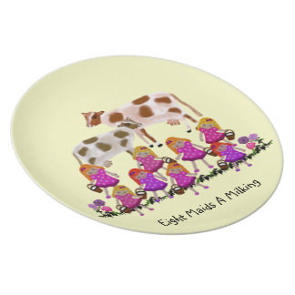 Eight Maids A Milking Decorative Plate