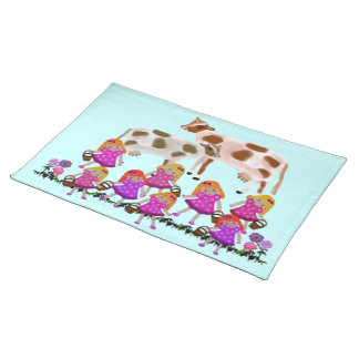 Eight Maids A Milking Placemats
