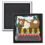 Eight maids a milking refrigerator magnet