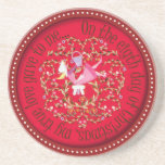 Eight maids amilking drink coasters