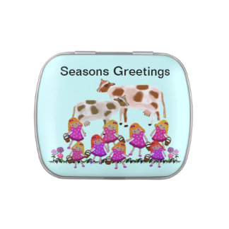 Eight Maids Seasons Greetings Jelly Belly Tins