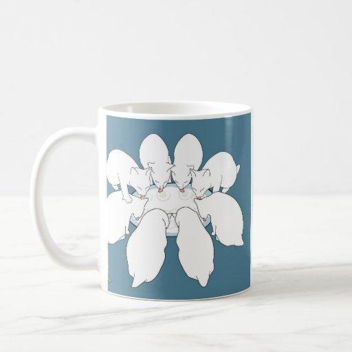 Eight Manx a-Milking (holiday mug)