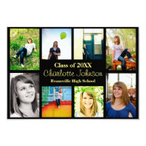 Eight/Nine Photos Graduation Announcement-3x5Black Card