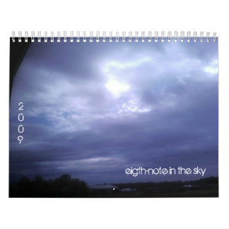 eight-note in the sky calender calendar