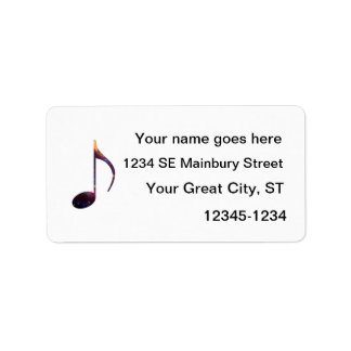 eight note nebula 1 custom address labels