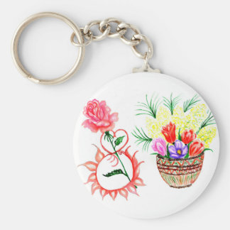 Eight of March Art Keychain