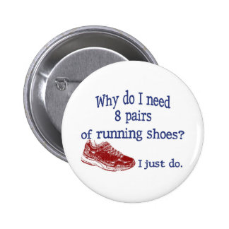 Eight Pairs Running Shoes 2 Inch Round Button