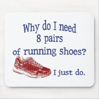 Eight Pairs Running Shoes Mouse Pad