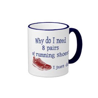 Eight Pairs Running Shoes Ringer Coffee Mug