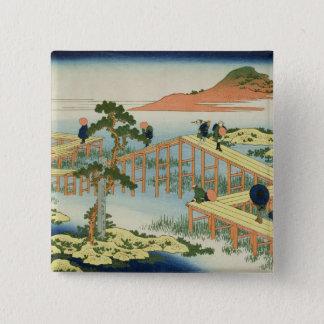 Eight part bridge, province of Mucawa, Japan, c.18 Button