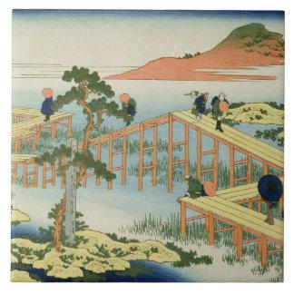 Eight part bridge, province of Mucawa, Japan, c.18 Ceramic Tile