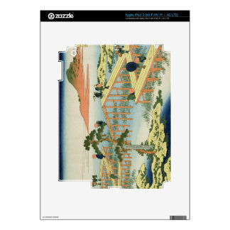 Eight part bridge, province of Mucawa, Japan, c.18 Decal For iPad 3