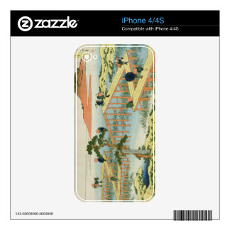 Eight part bridge, province of Mucawa, Japan, c.18 Decal For iPhone 4