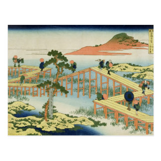 Eight part bridge, province of Mucawa, Japan, c.18 Postcard