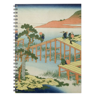 Eight part bridge, province of Mucawa, Japan, c.18 Spiral Notebook