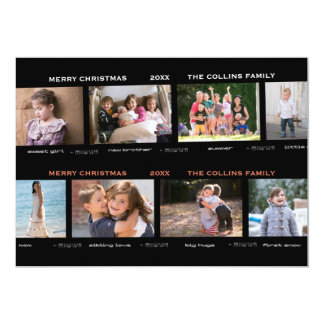 Eight Photo Proof Sheet Non-Traditional Holiday Card