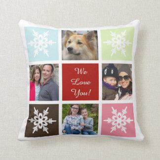 eight photos collage custom pillows