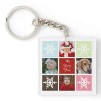 eight photos collage Mod photo acrylic key chain