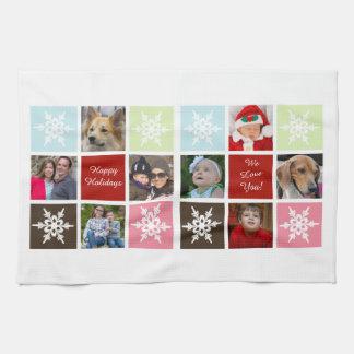 eight photos collage Mod photo towel