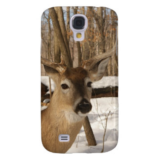 Eight point buck in winter snow. galaxy s4 cases