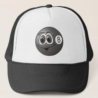 Eight Pool Ball Cartoon Trucker Hat